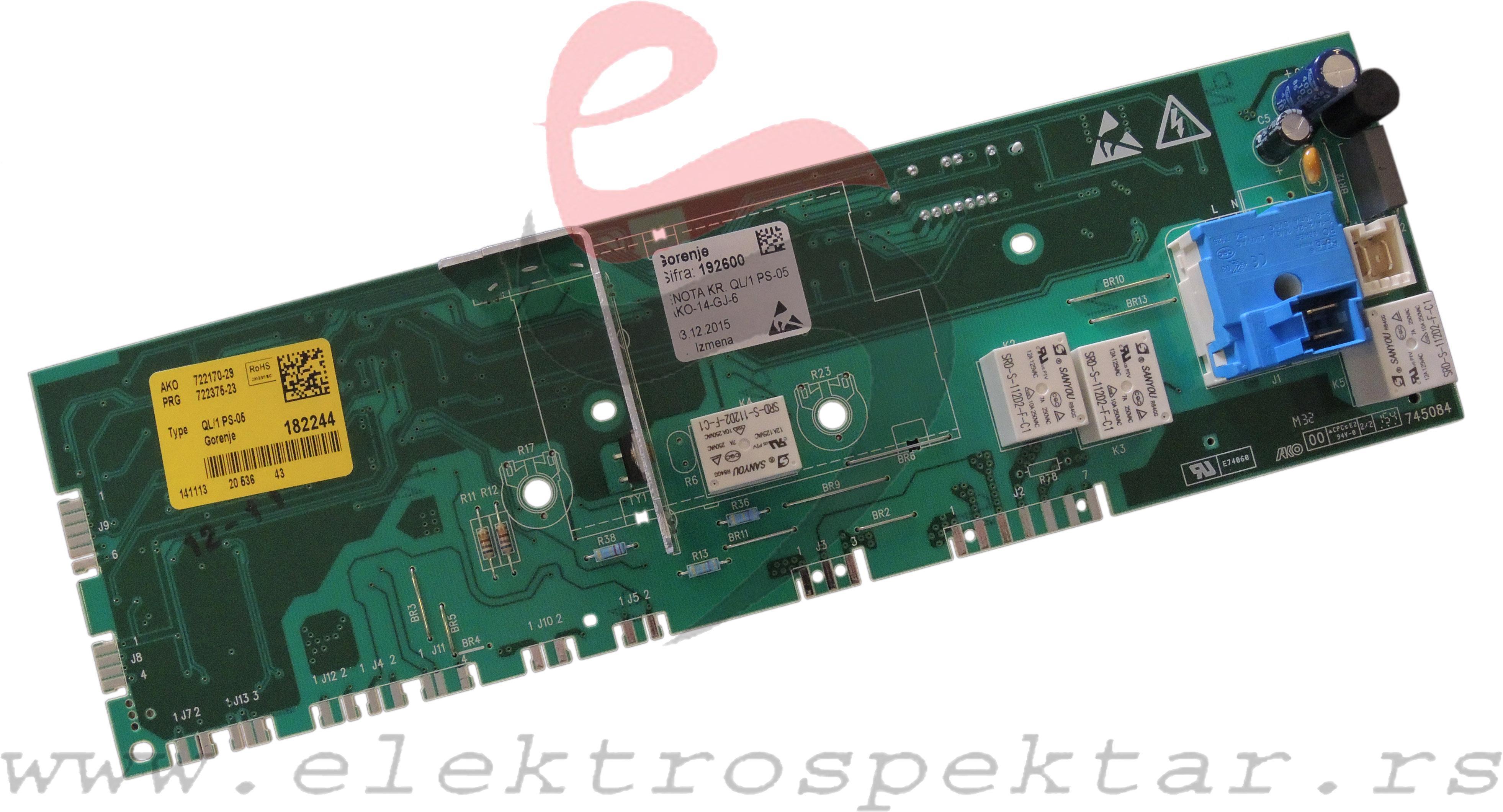 Elektronski Moduli   Elektronika Ve U0160 Ma U0160ine Gorenje 192600 0134073
